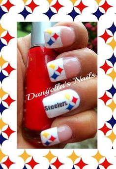 Steelers nails steelers pinterest football nails makeup and steelers nails nailart prinsesfo Choice Image