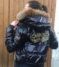 Goed uitziende nickelson jas voor dames donkerblauw maat: s