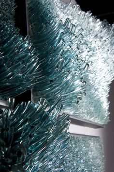 "Shayna Leib, Glass Artist - Sculptural Glass Art. DETAIL: Stiniva 1/5, 2011 19"" H x 30 ""W x 8 "" D. Photo: Jim Gill."