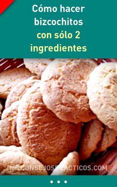 Cómo hacer bizcochitos con sólo 2 ingredientes #galletas #2ingredientes #recetas #bizcochitos #postres Mashed Potatoes, Cookies, Street Food, Ethnic Recipes, Desserts, Health Desserts, 2 Ingredients, Dessert Recipes, Dinner Rolls