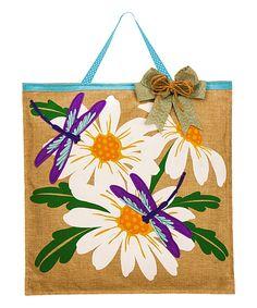 Take a look at this Daisies & Dragonflies Burlap Door Hanger today!