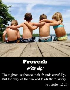 Proverbs 12:26  The importance of friendships