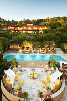 House overlooking pool.
