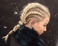 Central stacked dutch fishtail with 3D braid on top by Joel Benjamin