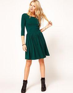 Enlarge ASOS Skater Dress With Slash Neck seen on Anna at IHOD blog
