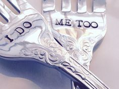 I DO/ ME TOO wedding forks new forks wedding cake von ethanjane
