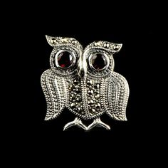 Just added some gorgeousness to my website! Click here to SHOP! http://www.alexandramay.com/products/marcasite-garnet-owl-brooch-bm586gn?utm_campaign=social_autopilot&utm_source=pin&utm_medium=pin