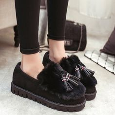 GET $50 NOW | Join RoseGal: Get YOUR $50 NOW!http://www.rosegal.com/flats/faux-fur-tassels-flock-flat-904154.html?seid=2275071rg904154