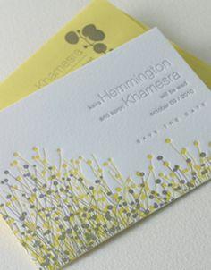 Fields Letterpress Wedding Save the Date