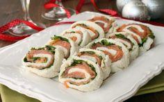 Girelle di pancarré con salmone