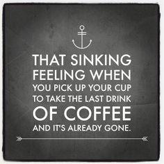 Already gone... #coffee #lastdrink #coffeeproblems #waxmaam