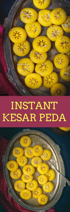 INSTANT KESAR PEDA is a gloriously popular Indian Dessert that is infused with Saffron. When the festive bells ring in the air, making a platter filled with Mithai ( Sweets) is a tradition. This is an Instant Kesar Peda Recipe is ridiculously easy to make Indian Dessert Recipes, Indian Sweets, Sweets Recipes, Yummy Recipes, Diwali Recipes, Simple Recipes, Healthy Desserts, Lunch Recipes, Healthy Recipes