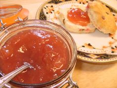 Jenny Eatwell's Rhubarb & Ginger: Rhubarb & Ginger Jam - well it was about time! Rhubarb Ginger Jam, Ginger Syrup, Rhubarb Rhubarb, Jam On, Cook Off, Your Recipe, Eating Well, Frozen, Food And Drink