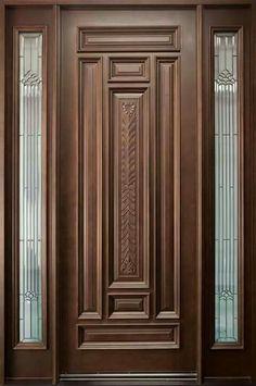 Wood Entry Doors, Wood Exterior Door, The Doors, Wooden Doors, Entrance Doors, Rustic Exterior, Door Entryway, Panel Doors, Office Entrance