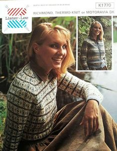 8b9159bfb75ae Vintage   retro knitting pattern Lister Lee K1770 ladies DK sweater    cardigan  ListerLee
