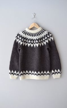 vintage 1960s Lopapeysa fair isle sweater #fairisle #nordic #vintage