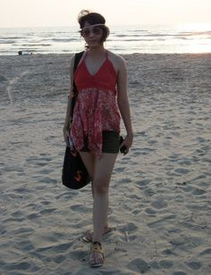 Sonal on Morjim beach