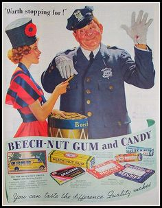 1937-Beech-nut Gum and Candy Ad by ozfan22, via Flickr