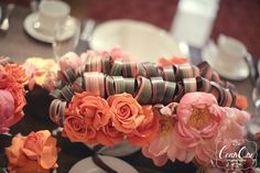 <3 the color combo-pinks + coral + green