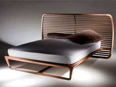 'Buonanotte Valentina' bed, by No Duchaufour-Lawrance, for Ceccotti Collezioni Bedroom Furniture, Furniture Design, Cama Queen, Wood Bed Design, Interior Wallpaper, Wood Beds, Luxury Bedding, Bed Frame, House Interiors