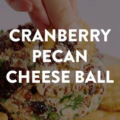 Try this Cranberry Pecan Cheeseball if you need a quick and easy appetizer. This takes just 10 minutes to put together with cream cheese, cheddar, cranberries and pecans. Add herbs or green onion to give it a festive look for Christmas, if you like! Quick And Easy Appetizers, Holiday Appetizers, Healthy Appetizers, Party Appetizers, Easy Cheeseball, Cheese Ball Recipes, Cheddar, Football Food, Food Videos