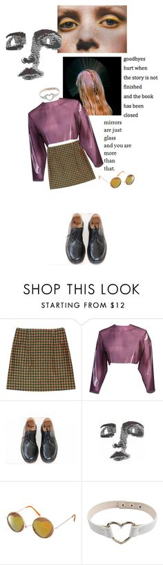 """""""MIRRORS ARE JUST GLASS"""" by selenahyacintha ❤ liked on Polyvore featuring Too Late, Sydney-Davies, Dr. Martens, ASOS and country"""