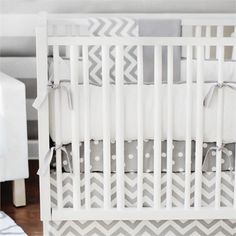 Rosenberry Rooms has everything imaginable for your child's room! Share the news and get $20 Off  your purchase! (*Minimum purchase required.) Zig Zag Baby Crib Bumper #rosenberryrooms