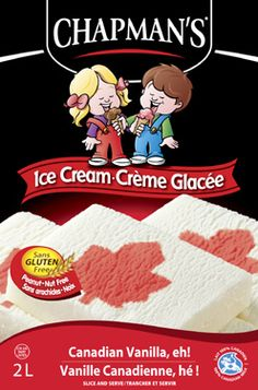 Vanilla ice cream with a red maple leaf revealed in every slice. A true one-of-a-kind. We're Canadian too!
