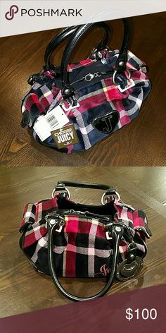 Juicy Couture Plaid Handbag Plaid Handbag in mint condition, never used Juicy Couture Bags Shoulder Bags