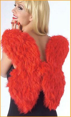 Feather Wings Halloween Costume Accessories $13.53 Red costume wings. Valentine's Day Accessories. http://www.halloweencostumes4u.com/prods/rub459.html