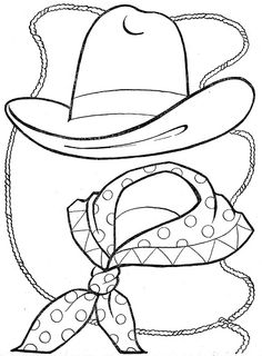 Cowboy Coloring Sheets for Preschoolers | cowboy coloring pages ...
