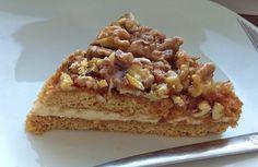Recept na výborný ořechový koláč z medového těsta. S vlašskými ořechy a pudinkovým krémem, chutná božsky. Vyzkoušejte! Krispie Treats, Rice Krispies, Tiramisu, Waffles, Breakfast, Ethnic Recipes, Desserts, Food, Morning Coffee