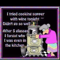 Guess it's wine for dinner...