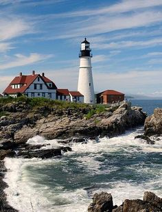 Portland Head Light, Cape Elizabeth, Maine. It is the oldest lighthouse in the state of Maine.