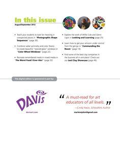 SchoolArts Magazine - AUG-SEP 2012