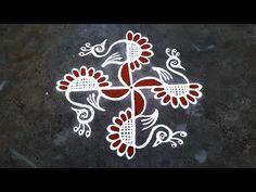 Simple Rangoli Border Designs, Rangoli Borders, Rangoli Designs Flower, Small Rangoli Design, Colorful Rangoli Designs, Beautiful Rangoli Designs, Kolam Designs, Free Hand Rangoli, Easy Rangoli