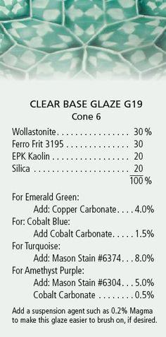 ...base glaze with colorants MXS