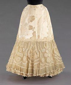Unbelievably pretty 1904 Wedding Petticoat from The Metropolitan Museum of Art.