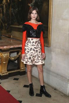 The 16 best celebrity outfits from today's Dior Cruise 2017 fashion show in London: Alexa Chung