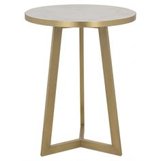 Loriot Side Table, Antique Brass, Metal | Memoky.com