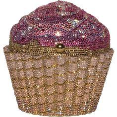Judith Leiber strawberry pink cupcake clutch