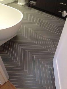 Modern Bathroom With Black Chevron Slate Flooring : Durable Slate Interior Flooring Herringbone Tile Floors, Slate Flooring, Bathroom Flooring, Flooring Ideas, Slate Tiles, Ceramic Flooring, Modern Flooring, Brick Tiles, Chevron Tile