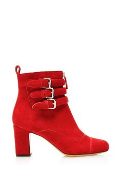 Nash In Red Split Suede by Tabitha Simmons for Preorder on Moda Operandi