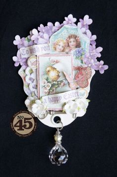 Arlene's Easter Sweet Sentiments ATC - love how she turned the ATC tag upside down! #Graphic45 #ATC