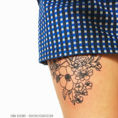 Creatively Curated: SANDI DOODLES : BOTANICAL TATTOO #ink
