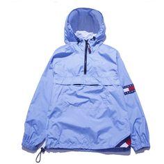 Tommy Jeans Parka Windbreaker Medium Perennial Merchants ($58) ❤ liked on Polyvore featuring jackets