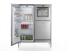 This oven-dishwasher-fridge unit would be perfect for a tiny cabin. Everything but the kitchen sink.