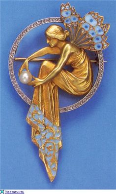 Fairy pendant pin