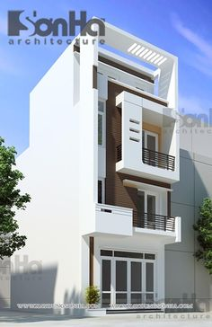 Narrow House, 3d Architecture, Front Elevation, Modern Houses, Modern Design,  Facade, House Design, My Blog, Free Products