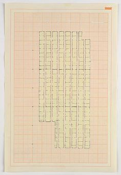 Rachel Whiteread Study for 'Floor', 1992 Ink and correction fluid on graph paper 18 x 12 inches x cm) Rachel Whiteread, Graph Paper Art, Designs To Draw, Drawing Designs, Geometric Art, Collage Art, Collages, Correction Fluid, Textures Patterns